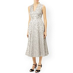 Monsoon - Ivory Gia jacquard dress