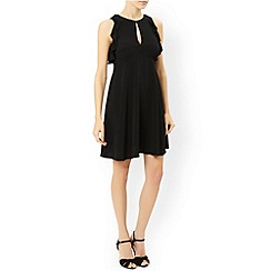 Monsoon - Black Ellis frill dress