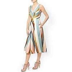 Monsoon - Multicoloured  'Delilah' stripe dress