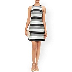 Monsoon - Black Lucy stripe dress