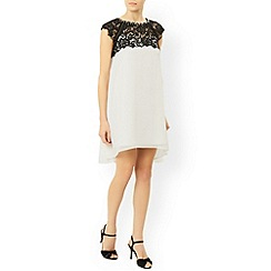 Monsoon - Ivory Nelly contrast dress