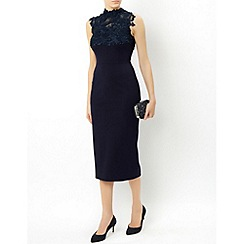 Monsoon - Blue Ceilidh pencil dress