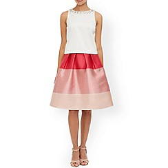Monsoon - Pink Tilly stripe skirt