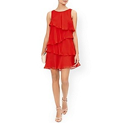 Monsoon - Red 'Fleur' frill dress