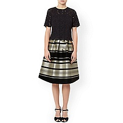 Monsoon - Black 'Lucy' stripe skirt