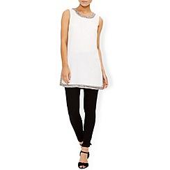 Monsoon - Ivory Salma embellished sleeveless top