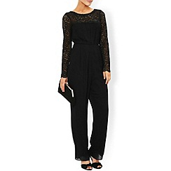 Monsoon - Black Ambra lace jumpsuit