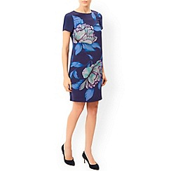 Monsoon - Blue Rhona print silk dress