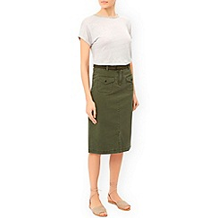 Monsoon - Green Carla chino skirt