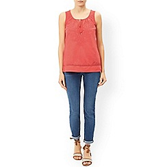Monsoon - Pink 'Sydney' sleeveless embroidered top