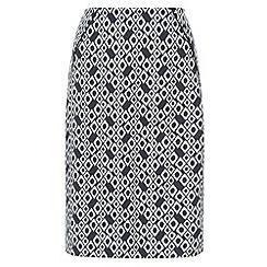 Monsoon - Blue Jolita ikat print skirt