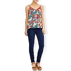 Monsoon - Red Mexican floral cami top