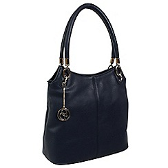 Daniele Donati - Navy faux leather medium handbag