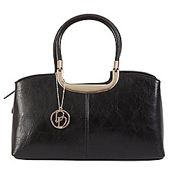 Daniele Donati - Black faux leather medium handbag