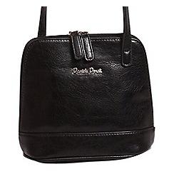 Daniele Donati - Black faux leather small shoulder bag