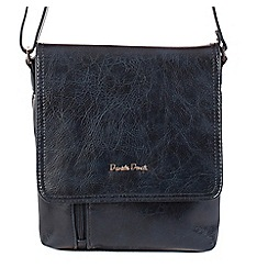 Daniele Donati - Navy faux leather small shoulder bag