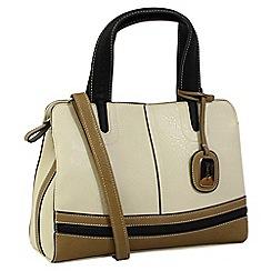 Daniele Donati - Beige faux leather medium handbag