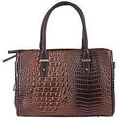 Daniele Donati - Brown faux leather large handbag