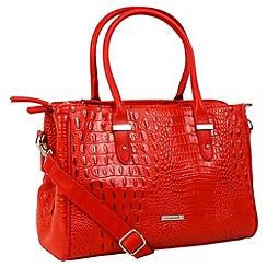 Daniele Donati - Red faux leather large handbag