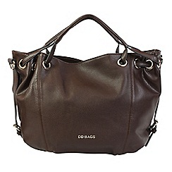 Daniele Donati - Brown faux grained leather large handbag
