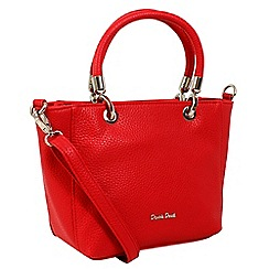 Daniele Donati - Red faux leather medium handbag