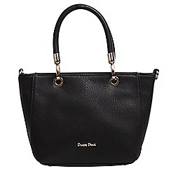 Daniele Donati - Black faux leather large handbag