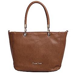 Daniele Donati - Dark beige faux leather large handbag