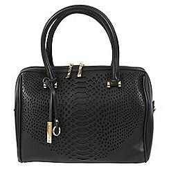 Daniele Donati - Black faux leather medium handbag