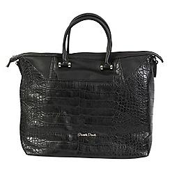 Daniele Donati - Black faux croc leather large handbag
