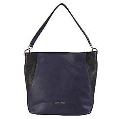 Daniele Donati - Blue/black faux leather large handbag