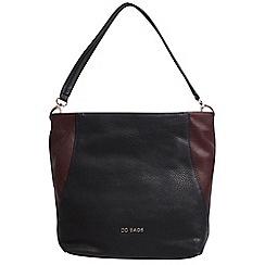 Daniele Donati - Black/burgundy faux leather large handbag