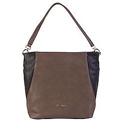 Daniele Donati - Grey/black faux leather large handbag