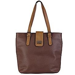 Daniele Donati - Brown/taupe faux leather large handbag