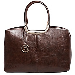 Daniele Donati - Brown faux leather medium handbag