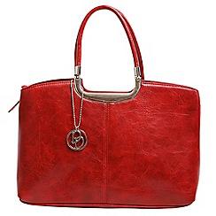 Daniele Donati - Red faux leather medium handbag