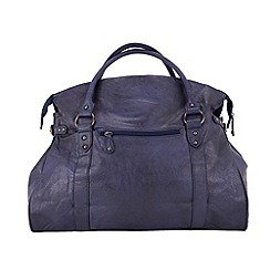 Enrico Benetti - Navy extra large faux leather workbag