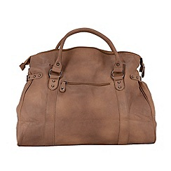 Enrico Benetti - Brown extra large faux leather workbag