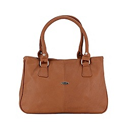 Enrico Benetti - Cognac two handle handbag