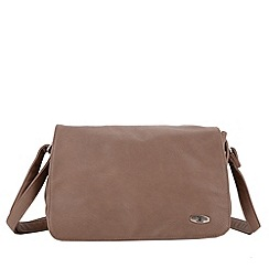 Enrico Benetti - Taupe faux leather handbag