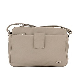 Enrico Benetti - Light grey zip top shoulderbag
