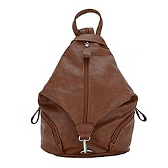 Enrico Benetti - Cognac faux leather backpack