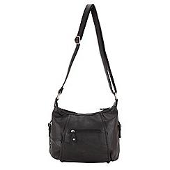 Enrico Benetti - Black panelled ziptop shoulder bag