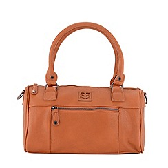 Enrico Benetti - Cognac faux leather bowling bag