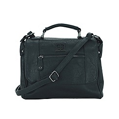 Enrico Benetti - Black faux leather satchel