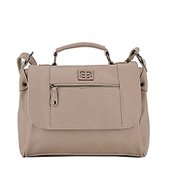 Enrico Benetti - Light grey faux leather satchel