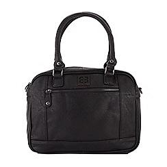 Enrico Benetti - Black faux leather two handled handbag