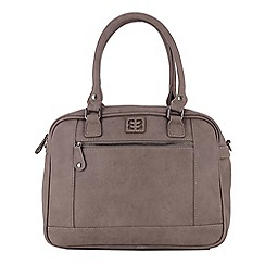 Enrico Benetti - Taupe faux leather two handled handbag