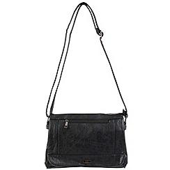 Enrico Benetti - Black faux leather shoulder bag