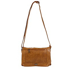 Enrico Benetti - Cognac faux leather shoulder bag