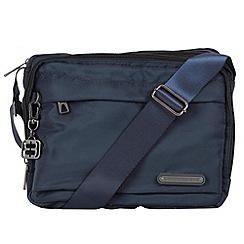 Enrico Benetti - Navy smooth nylon shoulder bag